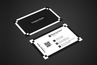 Black and White Corporate Business Card Graphic Print Templates By graphs_art