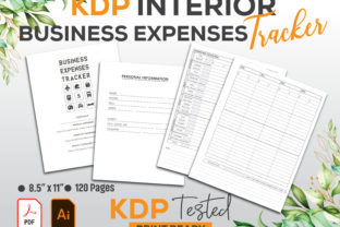 Business Expenses Tracker Log Book KDP Graphic KDP Interiors By GraphicTech360