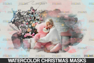 Christmas Watercolor Overlay & Christmas Graphic Actions & Presets By 2SUNS