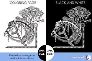 Coloring Page for Adult Magic Horse Graphic Coloring Pages & Books Adults By Alinart 1