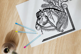 Coloring Page for Adult Magic Horse Graphic Coloring Pages & Books Adults By Alinart 3
