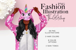 Print on Demand: Cute Unicorn Planner Girl Clipart Graphic Illustrations By TheGGShop