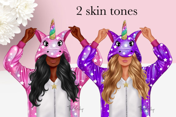 Cute Unicorn Planner Girl Clipart Graphic Preview