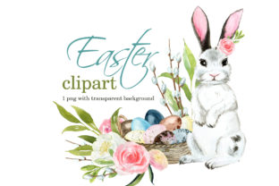 Cute Easter Clipart 2 Graphic Illustrations By lena-dorosh