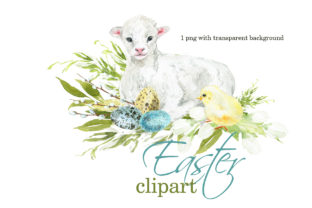 Cute Easter Clipart 3 Graphic Illustrations By lena-dorosh