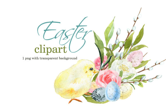 Cute Easter Clipart Graphic Illustrations By lena-dorosh