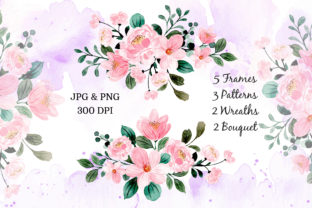 Print on Demand: Digital Clipart Floral Watercolor Part20 Graphic Illustrations By asrulaqroni