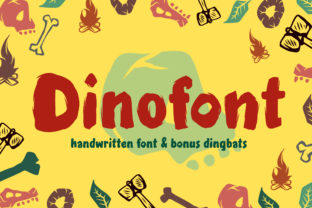 Print on Demand: Dinofont Display Font By fontherapy