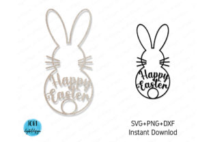 Easter Bunny Svg File for Cricut Graphic Print Templates By Tori Designs