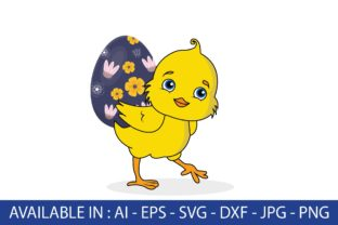 Easter | Chicken and Eggs Graphic Illustrations By Fauzia Studio