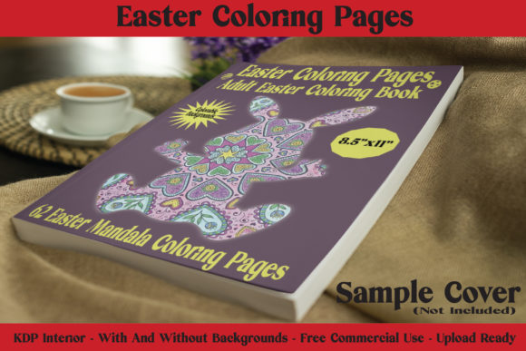 Easter Coloring Pages - 62 Pages for KDP Graphic