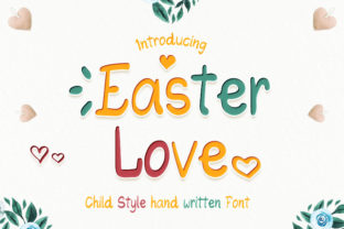 Print on Demand: Easter Love Display Font By numnim
