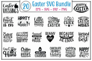 Print on Demand: Easter SVG Design Bundle Graphic Print Templates By GraphicsBooth