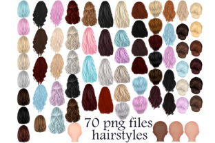 Print on Demand: Hairstyles Clipart Graphic Illustrations By Stickerica Shop