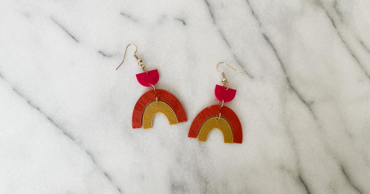 How To Make Leather Look Clay Earrings