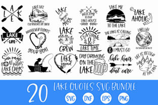 Print on Demand: Lake Quotes SVG Bundle Graphic Crafts By freelingdesignhouse