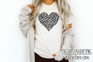 Leopard Print Heart Graphic Crafts By DrissyStore