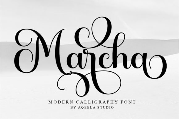 Print on Demand: Marcha Script & Handwritten Font By Aqeela Studio