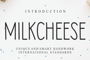 Print on Demand: Milkcheese Script & Handwritten Font By Roronoa zoro.S.P.D