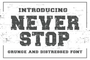 Print on Demand: Neverstop Display Font By KtwoP 1