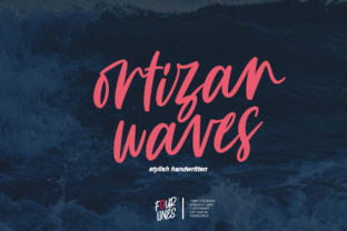 Print on Demand: Ortizan Waves Script & Handwritten Font By Fourlines.design