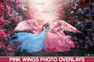 Pink Angel Wings Overlay Graphic Actions & Presets By 2SUNS