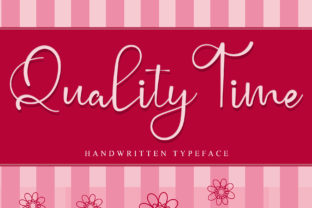 Print on Demand: Quality Time Script & Handwritten Font By giartstudios