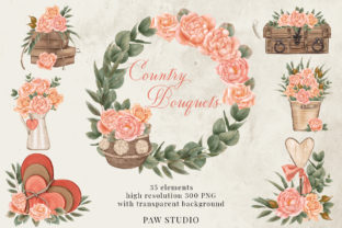 Print on Demand: Roses Frames Bouquets Borders Wreaths Graphic Illustrations By PawStudio