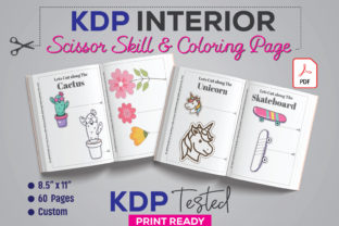 Scissor Skills & Coloring Book KDP Graphic KDP Interiors By GraphicTech360