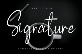 Print on Demand: Signature Script & Handwritten Font By Roronoa zoro.S.P.D
