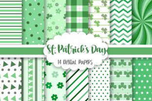 St. Patrick's Day Background Graphic Patterns By PinkPearly