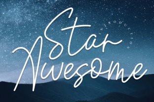 Print on Demand: Star Awesome Script & Handwritten Font By Roronoa zoro.S.P.D