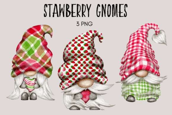 Print on Demand: Strawberry Gnomes Graphic Illustrations By Celebrately Graphics