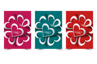 Valentines Day Card Brochure Template Graphic Print Templates By Graphic Art
