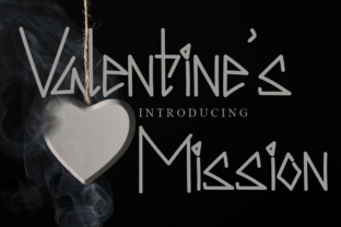Print on Demand: Valentine's Mission Display Font By Letterpen