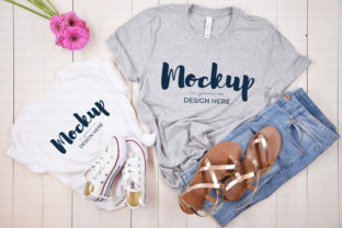 White Mommy and Me Tshirt Mockup Graphic Product Mockups By MyMockupStudio