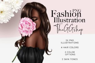 Print on Demand: Afro American Planner Girl Clipart Graphic Illustrations By TheGGShop