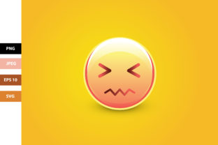 Confounded Emoji with Scrunched Eyes Gráfico Iconos Por Aradevi