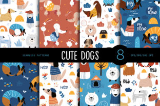 Print on Demand: Cute Dogs, Seamless Pattern. Graphic Patterns By FindsArtDesign