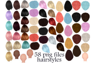 Print on Demand: Girls Hair Clipart Graphic Illustrations By Stickerica Shop
