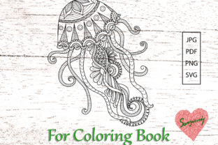 Jellyfish for Coloring Book Graphic Coloring Pages & Books Adults By somjaicindy