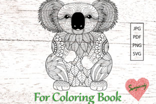 Koala Bear for Coloring Book Graphic Coloring Pages & Books Adults By somjaicindy
