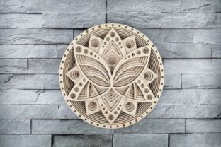 Print on Demand: Layered Mandala, Cut File, 3D Lotus Graphic 3D SVG By vectormarket