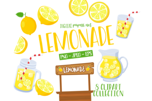Print on Demand: Lemonade Clipart Set Graphic Illustrations By DigitalPapers