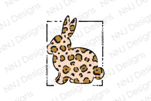 Print on Demand: Leopard Easter Bunny Sublimation Graphic Illustrations By NNJ Designs