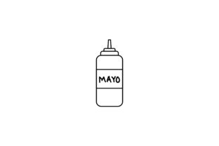 Mayonnaise Sausage Outline Food Icon Graphic Icons By yellowhellow