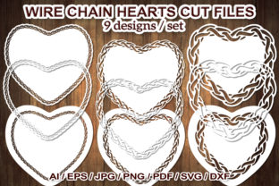 Print on Demand: Metal Wire Chain Heart SVG Cut Files Graphic Illustrations By V-Design Creator