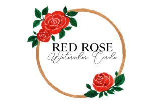 Red Rose Circle Pattern Graphic Web Elements By Monogram Lovers