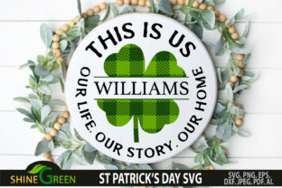 Print on Demand: St Patricks Day Family Frame Plaid Sign Graphic Crafts By ShineGreenArt