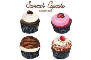 Summer Cupcake 1 Graphic Web Elements By Monogram Lovers